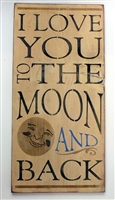 love you to the moon and back stencil