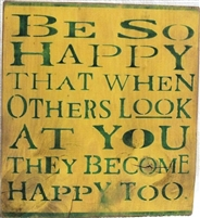 be happy stencil