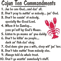 cajun then commandments stencil