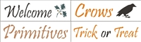 "Autumn Words Stencil Set Four 12 x 3.5"" Stencils"