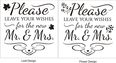 Please Leave Your Wishes for the new Mr. & Mrs. 11.5 x 11