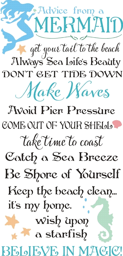 Advice From A Mermaid 12 X 24 Quot Stencil