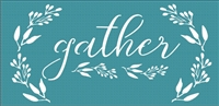 Gather with wreath graphic stencil Three size choices