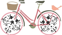 Bicycle Graphic Stencil -Two Size Choices