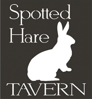 "Spotted Hare TAVERN 11 x 12"" stencil"