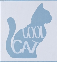 "Cool Cat with Cat Graphic 10 x 11.5"" Stencil"