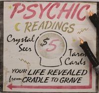 "Psychic Readings -Crystal Seer -Tarot Cards 12 x 12"" Stencil"