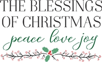 "The Blessings Of Christmas peace love joy 12 x 7.5"" Stencil"