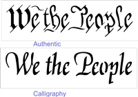 "We the People 12 X 4"" stencil two font choices"