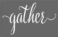 "gather 11.5 x 7.5"" Stencil stencils diy"