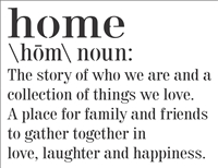 home \hom\ noun: