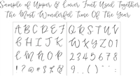 "Just Ducky Script Font Uppercase 4"" Tall Lettering Stencil Set"