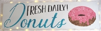 "Fresh Daily Donuts 40 x 11.5"" Stencil Large Size"