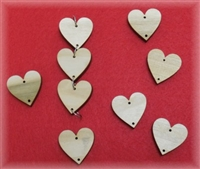 "1.25"" Laser Cut Poplar Wood Hearts for 1306 Family Birthday project"
