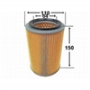 <h2>Daihatsu Hijet Air Filter, 1990 thru 1998</h2>
