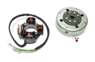 OEM derbi revolution start V cdi stator and magneto assembly - 4 wire