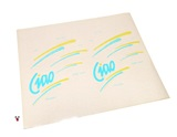 vespa ciao TEAL n YELLOW sticker set