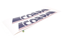 puch rare COBRA tank decal set - RED WHITE n BLUE