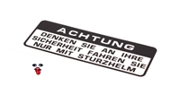 OEM honda decal - ACHTUNG