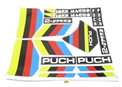 puch RIDER macho decal set - yellow n black n red n blue