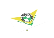 small puch green n yellow arrow sticker for rear fender