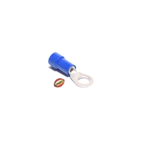 blue ring terminal wire connector - 3.5mm