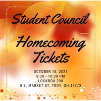 Student Council TCS Homecoming Tickets
