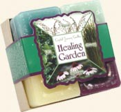 Healing Garden Herbal Gift Set square votive candle