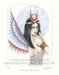 Isis Goddess home accent Wall Art Print