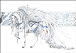 Carousel Horse: Angel White   home accent Wall Art