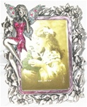 Pewter Picture Frame-Pink Dress Fairy