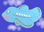 Airplane Baby Shower Cookie Favors