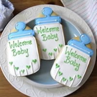 Baby Bottle Shower Cookie Favors