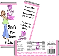 Mod Mom Baby Shower Candy Wrappers
