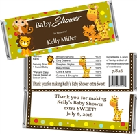 Jungle Baby Shower Candy Wrappers