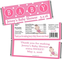 Pink Baby Shower Candy Wrappers