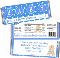 Blue Baby Shower Candy Wrappers