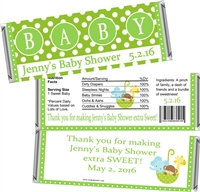 Green Baby Shower Candy Wrappers