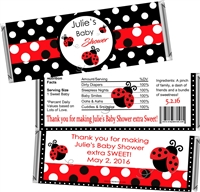 Lady Bug Baby Shower Candy Wrappers