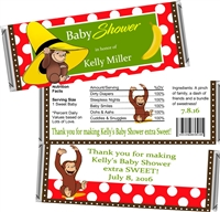 Curious George Baby Shower Candy Wrappers