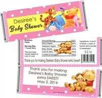 Pink Winnie Pooh Baby Shower Candy Wrappers