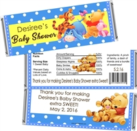 Blue Winnie Pooh Baby Shower Candy Wrappers