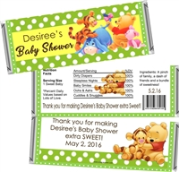 Green Winnie Pooh Baby Shower Candy Wrappers