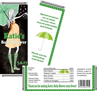 Green Showers Baby Shower Candy Wrappers