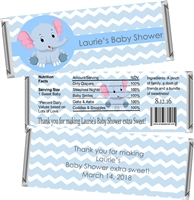 Blue Elephant Baby Shower Candy Wrappers