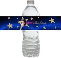 Starry Starry Night Waterproof Water Bottle Labels