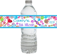 Candy Land  Party Water Bottle Labels