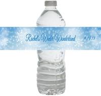 Winter Wonderland Waterproof Water Bottle Labels