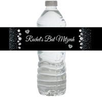 Bling Party Water Bottle Labels