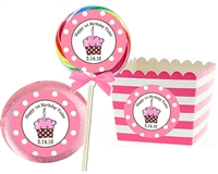 1st Birthday Girl's Sticker Labels